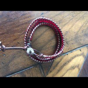 Jewelry - Beaded leather wrap bracelet